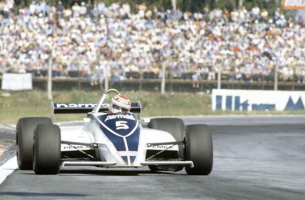 1981 Argentinian Grand Prix.Buenos Aires, Argentina. 10-12 April 1981.Nelson Piquet (Brabham BT49C-Ford Cosworth), 1st position.World Copyright: LAT PhotographicRef: 35mm transparency 81ARG05