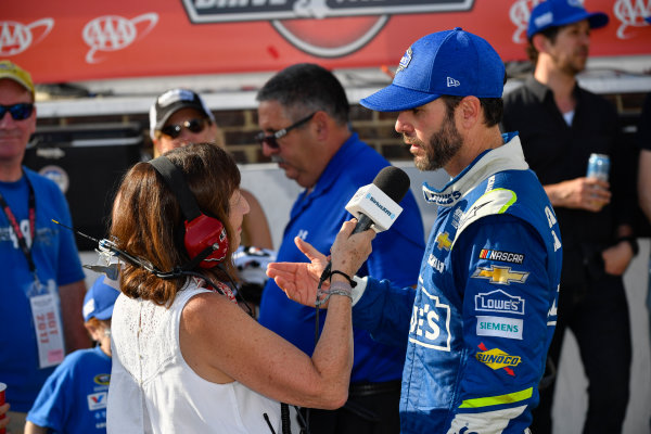 Monster Energy NASCAR Cup Series AAA 400 Drive for Autism Dover International Speedway, Dover, DE USA Sunday 4 June 2017 Jimmie Johnson, Hendrick Motorsports, Lowe's Chevrolet SS in victory lane World Copyright: Logan Whitton LAT Images ref: Digital Image 17DOV1LW3894
