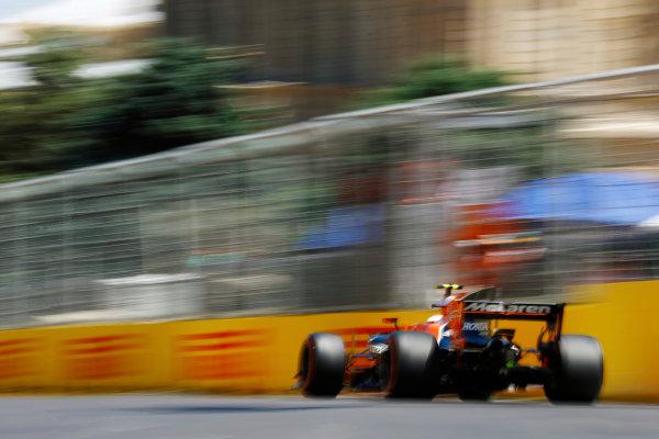 Baku City Circuit, Baku, Azerbaijan. Saturday 24 June 2017. Stoffel Vandoorne, McLaren MCL32 Honda.  World Copyright: Steven Tee/LAT Images ref: Digital Image _R3I2853