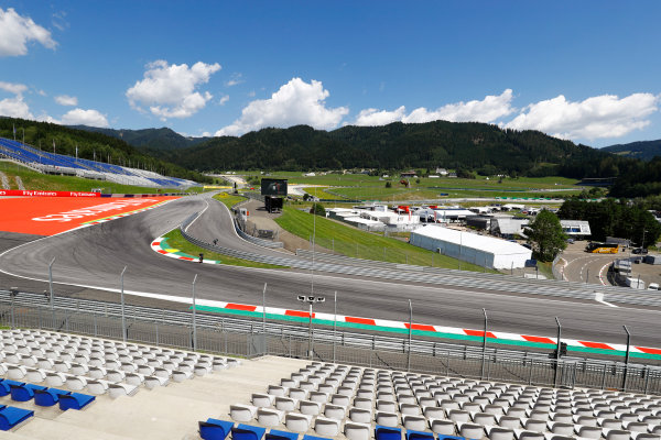 Red Bull Ring, Spielberg, Austria. Thursday 06 July 2017. A scenic view of the first corner. World Copyright: Steven Tee/LAT Images ref: Digital Image _O3I4049