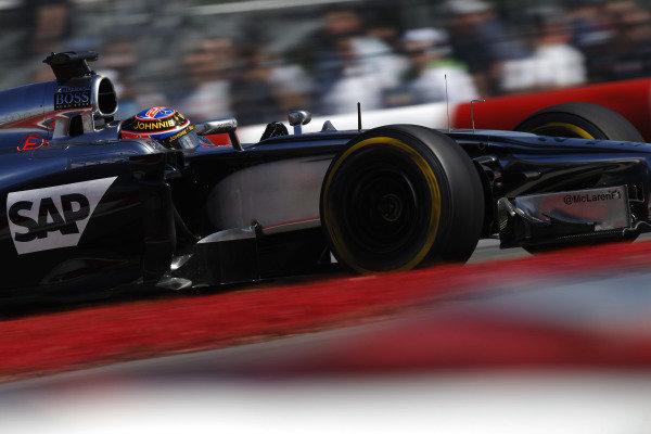 Circuit Gilles Villeneuve, Montreal, Canada. Friday 6 June 2014. Jenson Button, McLaren MP4-29 Mercedes. World Copyright: Glenn Dunbar/LAT Photographic. ref: Digital Image _89P1755