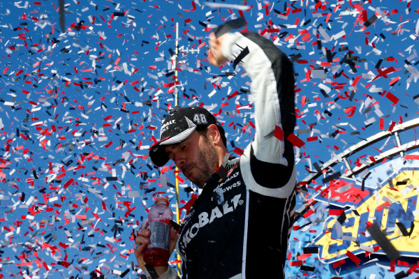 31 May-1 June, 2014, Dover, Delaware USA Jimmie Johnson celebrates in victory ?2014, Lesley Ann Miller LAT Photo USA