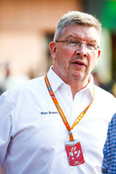 Monte Carlo, Monaco. Thursday 25 May 2017. Ross Brawn, Managing Director of Motorsports, FOM. World Copyright: Andy Hone/LAT Images ref: Digital Image _ONZ9668