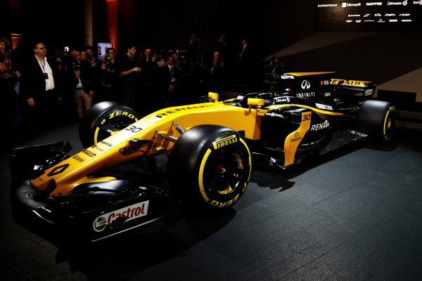 Renault  RS17  Formula 1 Launch. The Lindley Hall, London, UK. Tuesday 21 February 2017. The R.S.17 is launched. World Copyright: Glenn Dunbar/LAT Images Ref: _X4I9922