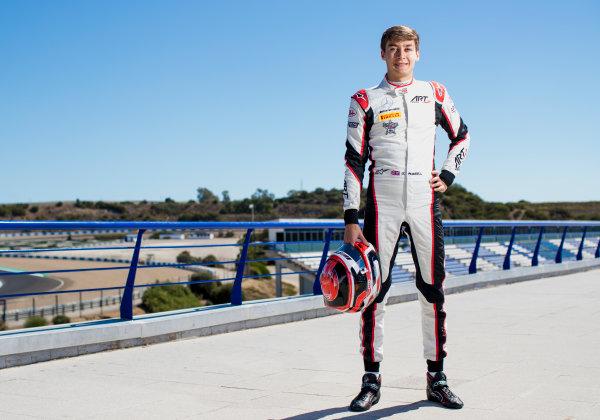 2017 GP3 Series Round 7.  Circuito de Jerez, Jerez, Spain. Thursday 5 October 2017. George Russell (GBR, ART Grand Prix).  Photo: Zak Mauger/GP3 Series Media Service. ref: Digital Image _56I3925