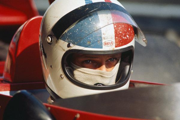 1973 Austrian Grand Prix.  Osterreichring, Austria. 17-19th August 1973.  Chris Amon, Tecno E731, in practice.  Ref: 73AUT66. World Copyright: LAT Photographic