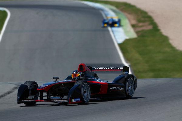 FIA Formula E Test Day, Donington Park, UK.  9th - 10th July 2014.  Nick Heidfeld, Venturi Grand Prix. Photo: Sam Bloxham/FIA Formula E ref: Digital Image _SBL1351