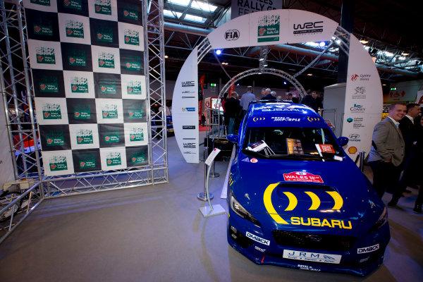 Autosport International Exhibition.  National Exhibition Centre, Birmingham, UK. Thursday 14 January 2016.  Subaru on the WRC stand. World Copyright: Sam Bloxham/LAT Photographic. ref: Digital Image _SBL5992