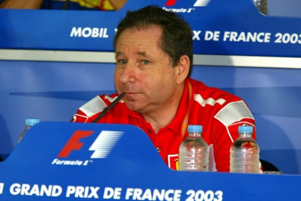 Jean Todt (FRA) Ferrari General Manager in the FIA press conference.