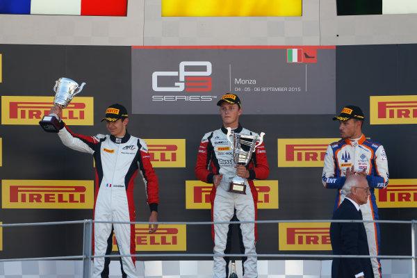 2015 GP3 Series Round 6. Autodromo di Monza, Italy. Sunday 6 September 2015. Esteban Ocon (FRA, ART Grand Prix)  World Copyright: Sam Bloxham/LAT Photographic. ref: Digital Image _SBL3743
