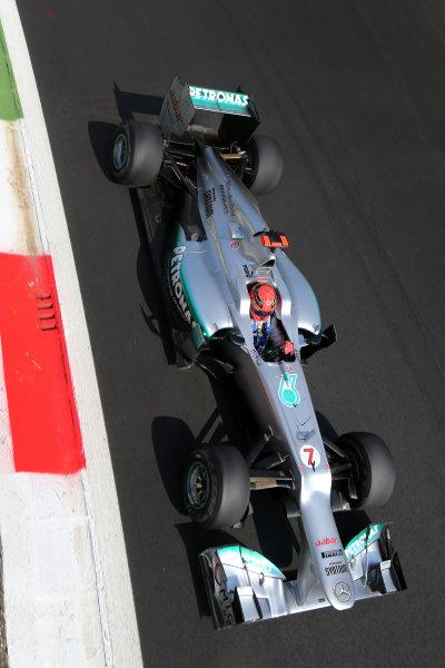 Autodromo Nazionale di Monza, Monza, Italy. 7th September 2012. Michael Schumacher, Mercedes F1 W03.  World Copyright: Steve Etherington/LAT Photographic ref: Digital Image SNE14639 copy