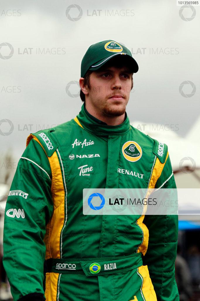Albert Park, Melbourne, Australia24th March 2011.Luiz Razia, Team Lotus Renault T128.World Copyright: Charles Coates/LAT Photographicref: Digital Image _X5J6653