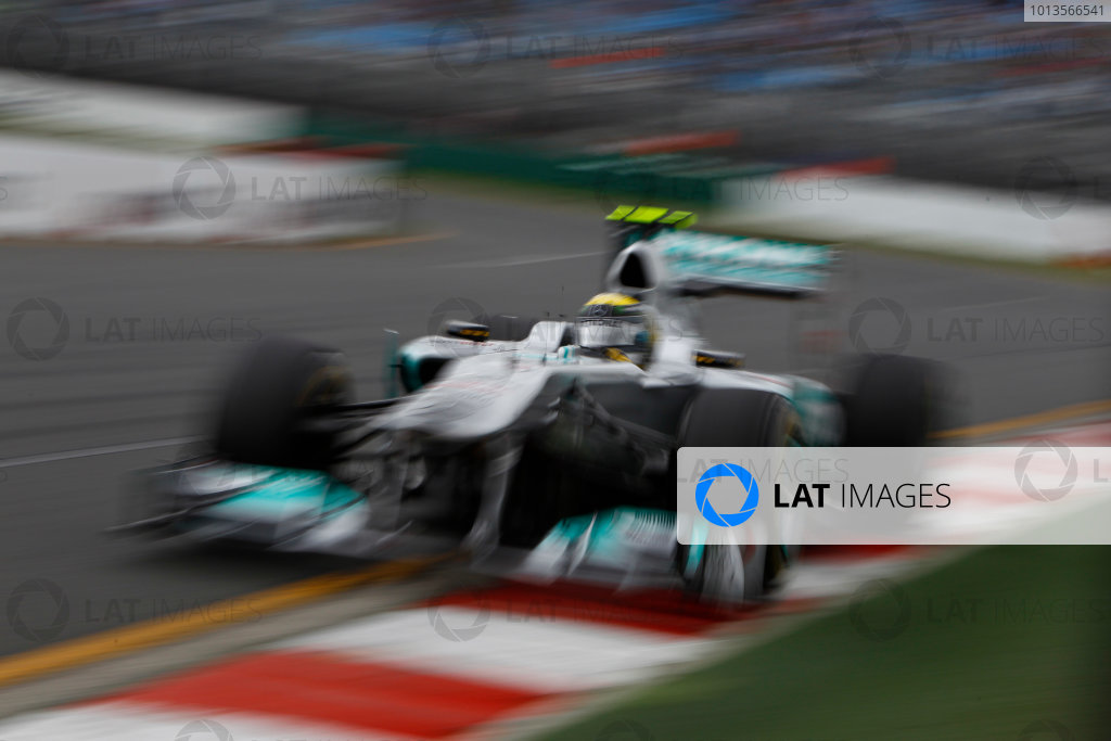 Albert Park, Melbourne, Australia 25th March 2011. Nico Rosberg, Mercedes GP W02. Action.  World Copyright: Glenn Dunbar/LAT Photographic ref: Digital Image _G7C3475
