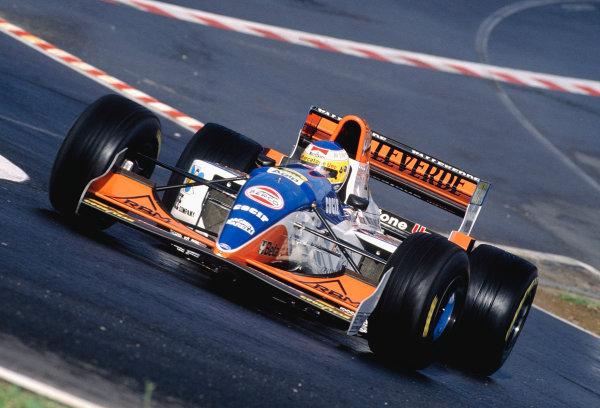 1994 Belgian Grand Prix.  Spa-Francorchamps, Belgium. 26th - 28th August 1994.  Michele Alboreto, Minardi M194 Ford, 9th position.  Ref: 94BEL29. World Copyright - LAT Photographic