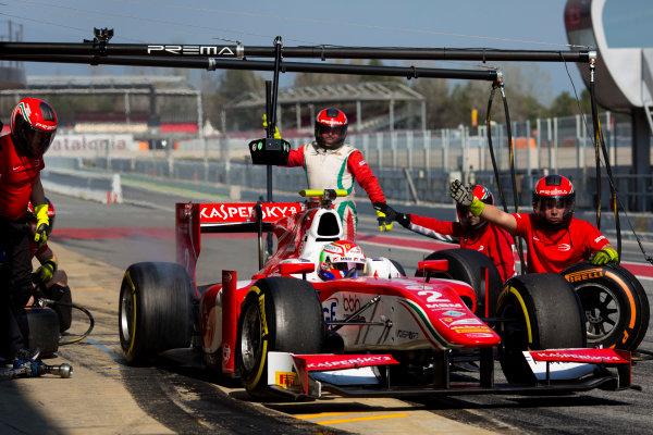 Circuit de Barcelona Catalunya, Barcelona, Spain. Wednesday 15 March 2017. Antonio Fuoco (ITA, PREMA Racing). Action.  Photo: Alastair Staley/FIA Formula 2 ref: Digital Image 585A0137