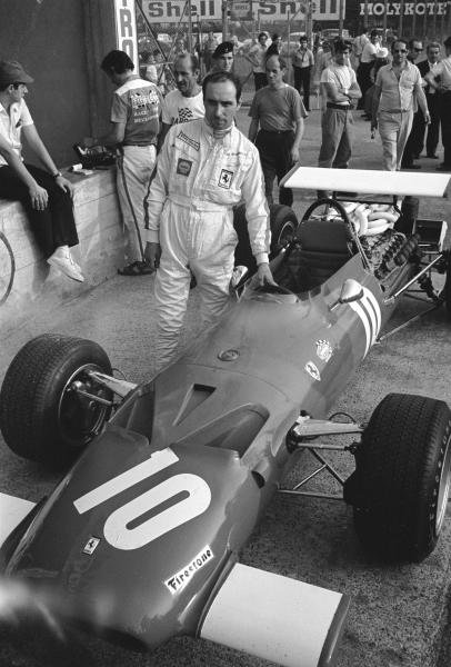 Ernestino Brambilla(ITA) practiced this Ferrari 312 but did not start as it was taken over by Pedro Rodriguez for the race Italian GP, Monza, 8 September 1969