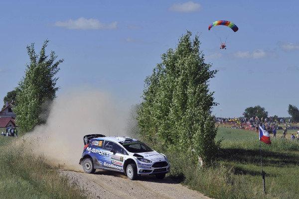 Elfyn Evans (GBR) / Daniel Barritt (GBR) Ford Fiesta RS WRC at FIA World Rally Championship, Rd7, Lotos 71st Rally Poland, Preparations & Shakedown, Mikolajki, Poland, Thursday 2 July 2015.