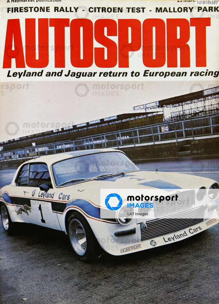 Cover of Autosport magazine, 25th March 1976
