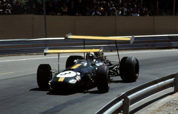 1969 Spanish Grand Prix.Monjuich Park, Barcelona, Spain.2-4 May 1969.Jack Brabham (Brabham BT26 Ford).Ref-69 ESP 04.World Copyright - LAT Photographic