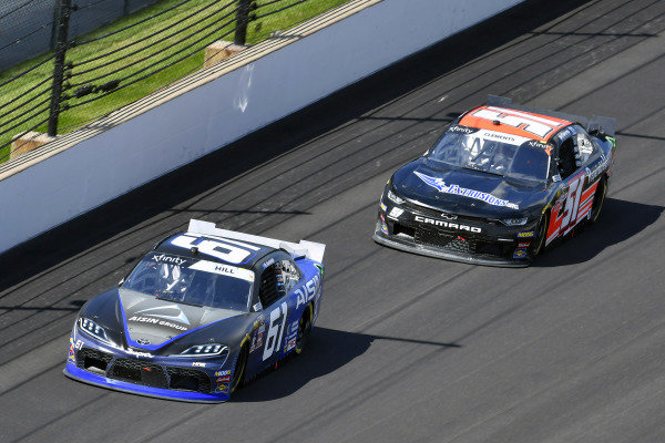 #61: Austin Hill, Motorsports Business Management, Toyota Supra Aisin Group and #51: Jeremy Clements, Jeremy Clements Racing, Chevrolet Camaro BRT Extrusions