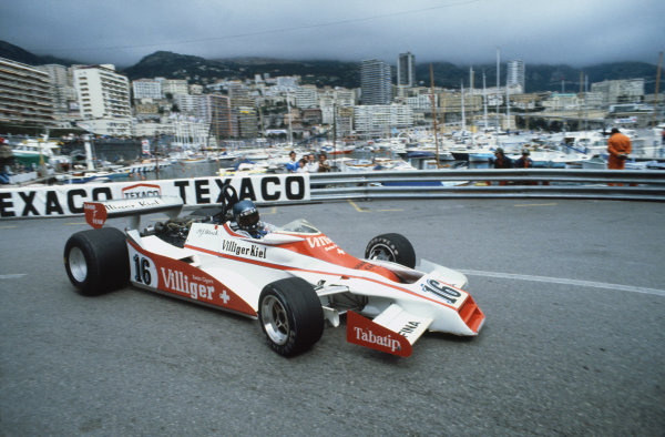Monte Carlo, Monaco. 7 May 1978.Hans-Joachim Stuck  (Shadow DN9 Ford), retired, action.World Copyright: LAT Photographicref: 35mm Transparency Image