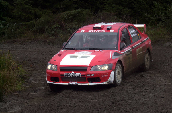 2002 World Rally Championship.Network Q Rally of Great Britain, Cardiff. November 14-17. Francois Delecour during shakedown.Photo: Ralph Hardwick/LAT