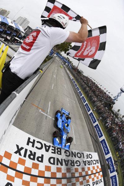 #10: Alex Palou, Chip Ganassi Racing Honda, ntt champion, chequred flag