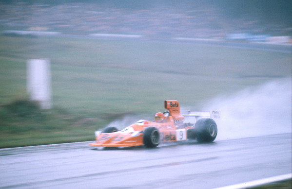 1975 Austrian Grand Prix.Osterreichring, Zeltweg, Austria.15-17 August 1975.Vittorio Brambilla (March 751 Ford) 1st position for his maiden and only Grand Prix win. This was also March Engineering's first Grand Prix win.Ref-75 AUT 01.World Copyright - LAT Photographic