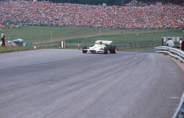 Osterreichring, Zeltweg, Austria.13th - 15th August 1971. Jo Siffert (BRM P160) 1st position. Ref-71 AUT 03. World Copyright - LAT Photographic