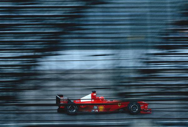 2000 United States Grand Prix.Indianapolis, Indiana, USA. 22-24 September 2000.Michael Schumacher (Ferrari F1-2000) 1st position.Ref-2K USA 08.World Copyright - LAT Photographic