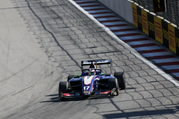 SOCHI AUTODROM, RUSSIAN FEDERATION - SEPTEMBER 29: Devlin DeFrancesco (CAN, Trident) during the Sochi at Sochi Autodrom on September 29, 2019 in Sochi Autodrom, Russian Federation. (Photo by Joe Portlock / LAT Images / FIA F3 Championship)
