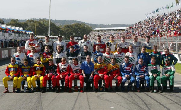 2002 Australian V8 SupercarsAdelaide Clipsal 500. Australia. 17th March 2002.The 2002 driver photo for the V8 Supercar drivers at the Clipsal 500.World Copyright: Mark Horsburgh/LAT Photographicref: Digital Image Only