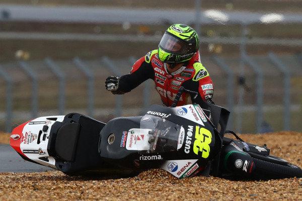 Cal Crutchlow, Team LCR Honda after crash.