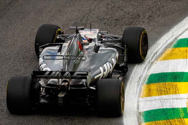 Interlagos, Sao Paulo, Brazil. Friday 10 November 2017. Romain Grosjean, Haas VF-17. World Copyright: Glenn Dunbar/LAT Images  ref: Digital Image _31I9921