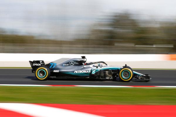 Circuit de Catalunya, Barcelona, Spain. Friday 09 March 2018. Valtteri Bottas, Mercedes AMG F1 W09. World Copyright: Glenn Dunbar/LAT Images ref: Digital Image _31I2669