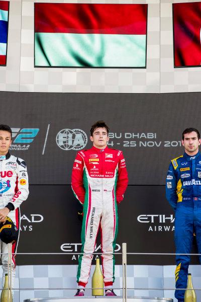 2017 FIA Formula 2 Round 11. Yas Marina Circuit, Abu Dhabi, United Arab Emirates. Sunday 26 November 2017. Charles Leclerc (MCO, PREMA Racing).  Photo: Zak Mauger/FIA Formula 2. ref: Digital Image _56I2502