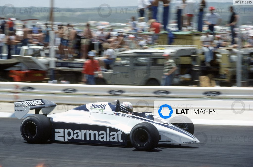 1982 South African Grand Prix.Kyalami, South Africa. 21-23 January 1982.Riccardo Patrese (Brabham BT50-BMW), retired.World Copyright: LAT PhotographicRef: 35mm transparency 82SA15