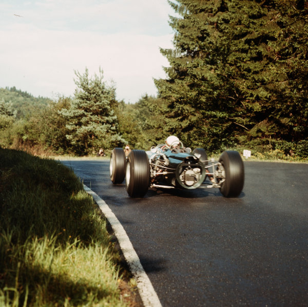 Nurburgring, Germany. 5-7 August 1966.Jackie Stewart (BRM P261) 5th position. Ref-3/2327.World Copyright - LAT Photographic