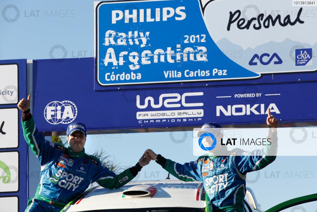 Round 05, Rally Argentina26th - 29th April 2012Benito Guerra, Mitsubishi, podiumWorldwide Copyright: McKlein/LAT