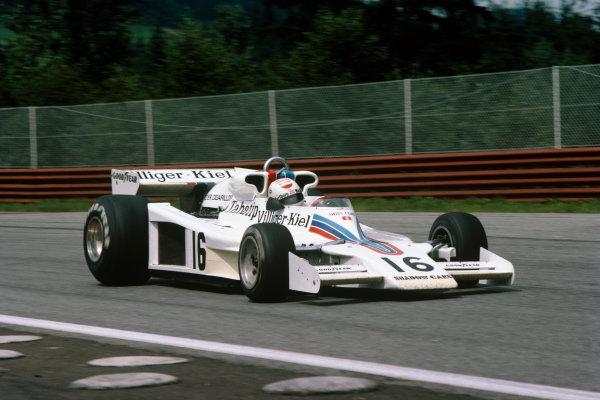 Osterreichring, Zeltweg, Austria. 12-14 August 1977.  Arturo Merzario (Shadow DN8 Ford) retired.  Ref: 77AUT17. World Copyright: LAT Photographic