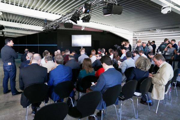 Jaguar Racing Official Formula E Launch Jaguar Heritage Collections Centre, Gaydon, UK Thursday 8 September 2016 Guests take their seats. World Copyright: Andrew Ferraro/LAT Photographic ref: Digital Image _14P4479