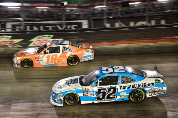 18-19 August, 2016, Bristol, Tennessee USA Kyle Busch, Tunity Toyota Camry (18), Joey Gase (52) ?2016, John Harrelson / LAT Photo USA