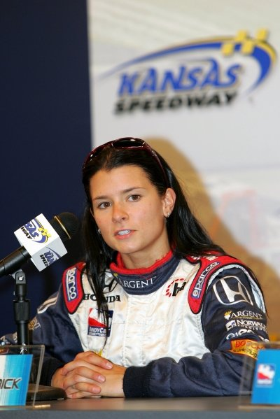 Danica Patrick (USA), Rahal Letterman Racing, talks about her first pole position in the series.