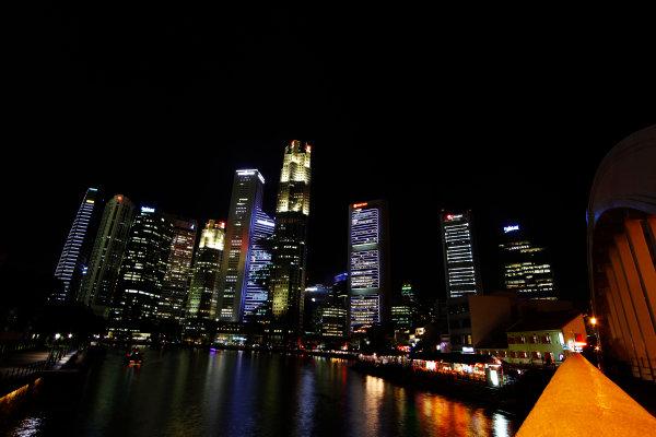Marina Bay Circuit, Singapore. 18th September 2013. Singapore at night. World Copyright: Jed Leicester/LAT Photographic. ref: Digital Image _JEL9222
