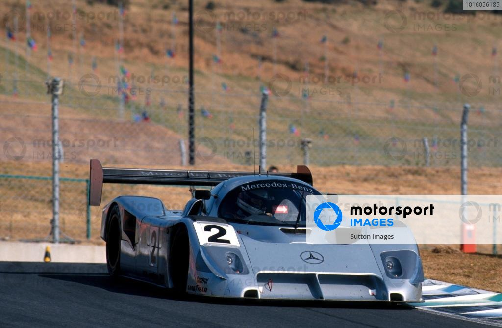 Michael Schumacher (GER) Mercedes-Benz C291 was victorious in his final race in Sportscars before moving full-time to Formula One.  Sportscar World Championship, Autopolis, Japan, 27 October 1991.