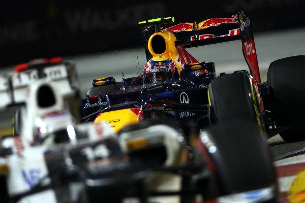 Marina Bay Circuit, Singapore23rd September 2012Mark Webber, Red Bull RB8 Renault. World Copyright: Andy Hone/LAT Photographicref: Digital Image HONZ0796