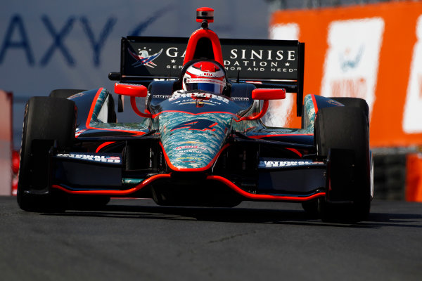 14 July, 2013,  Toronto, Ontario, CAN Carlos Munoz fills in for Ryan Briscoe ©2013, Phillip Abbott LAT Photo USA