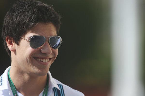 Yas Marina Circuit, Abu Dhabi, United Arab Emirates. Thursday 24 November 2016. Lance Stroll, Williams test and development driver. World Copyright: Charles Coates/LAT Photographic ref: Digital Image DJ5R9174