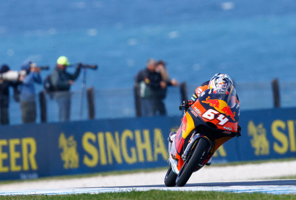 2017 Moto3 Championship - Round 16 Phillip Island, Australia. Friday 20 October 2017 Bo Bendsneyder, Red Bull KTM Ajo World Copyright: Gold and Goose / LAT Images ref: Digital Image 23286