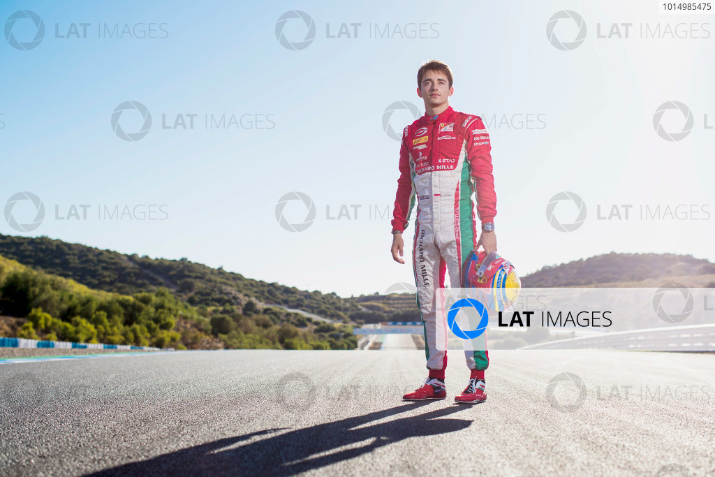 2017 FIA Formula 2 Round 10. Circuito de Jerez, Jerez, Spain. Saturday 7 October 2017. Charles Leclerc (MCO, PREMA Racing).  Photo: Zak Mauger/FIA Formula 2. ref: Digital Image _56I4082